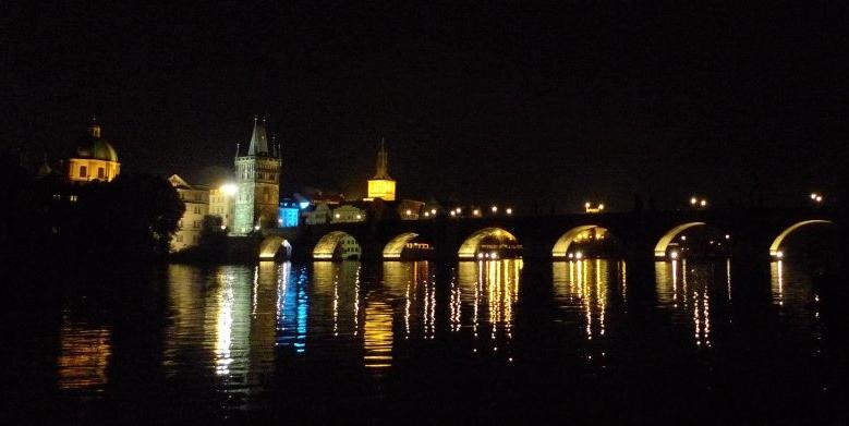 Prague Bridge Night