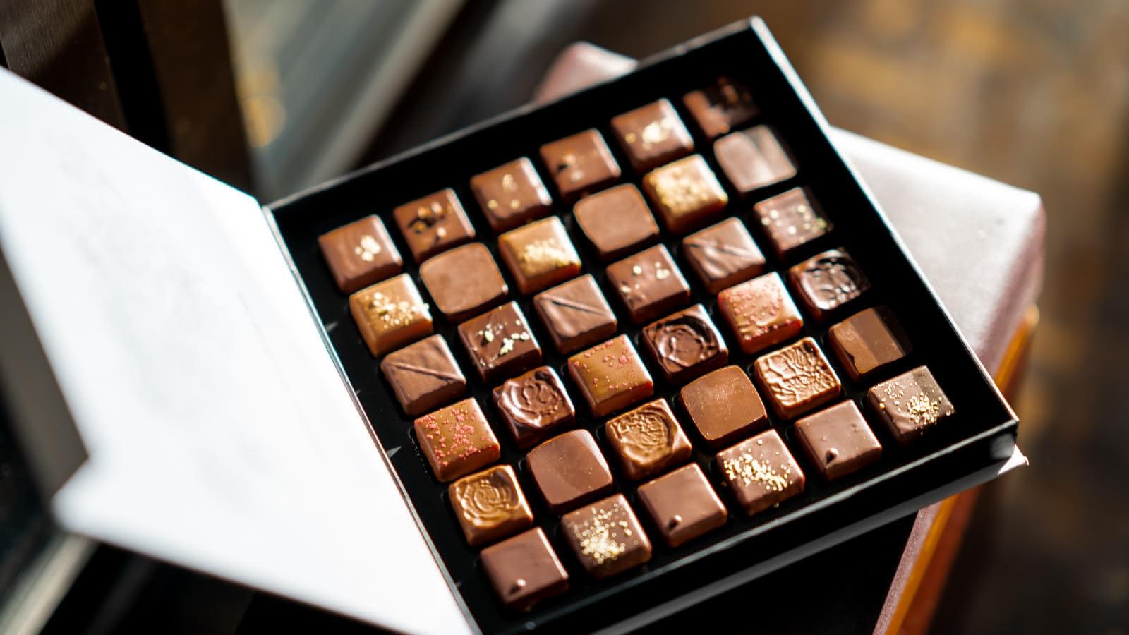 box of belgian chocolate
