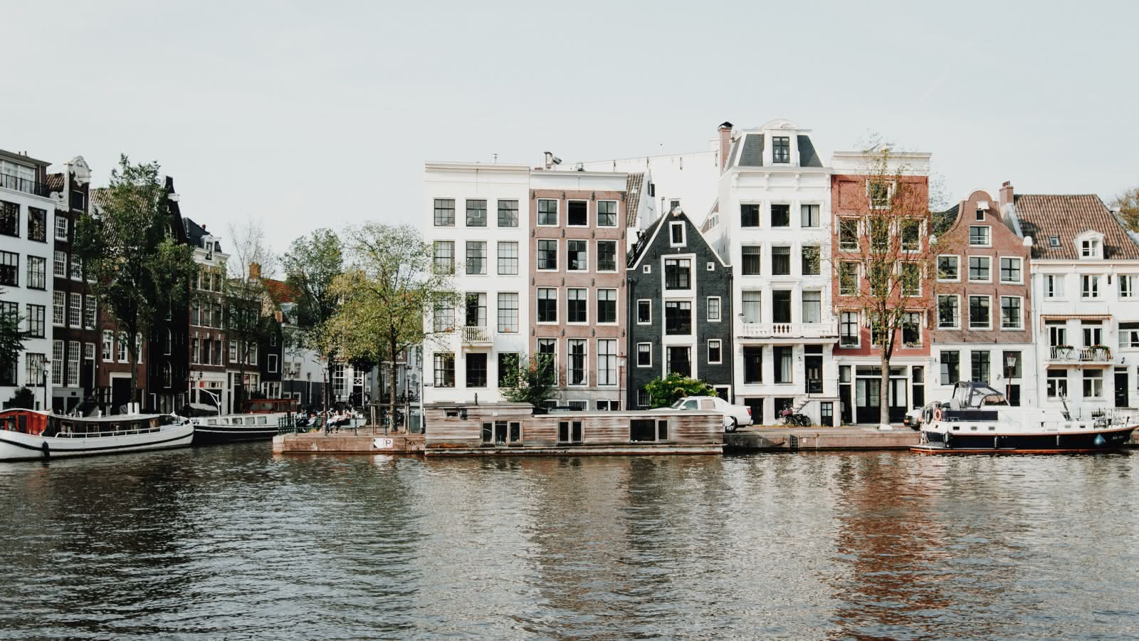 Beautiful views of Amsterdam from the canals
