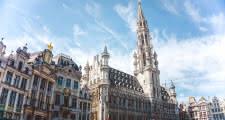 punto de encuentro del free tour de bruselas en la grand place delante del ayuntamiento