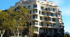 casa mila as seen during the gaudi and modernism tour in barcelona