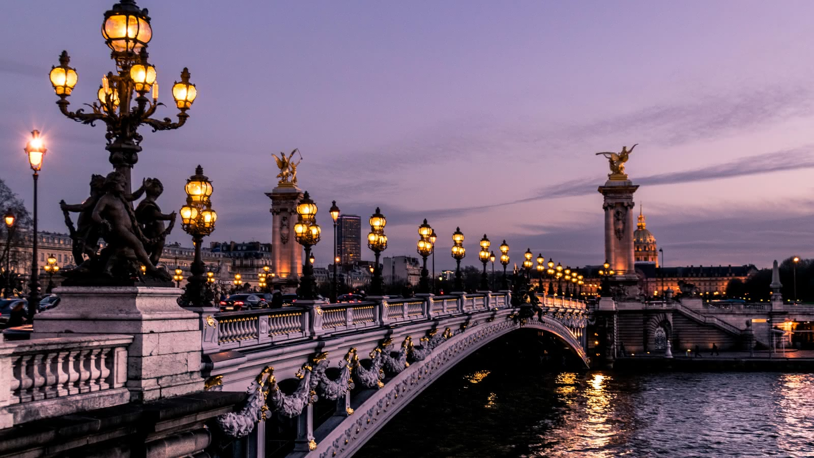 paris city of lights evening tour