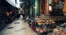 Barrio musulmán de la ciudad vieja de jerusalén