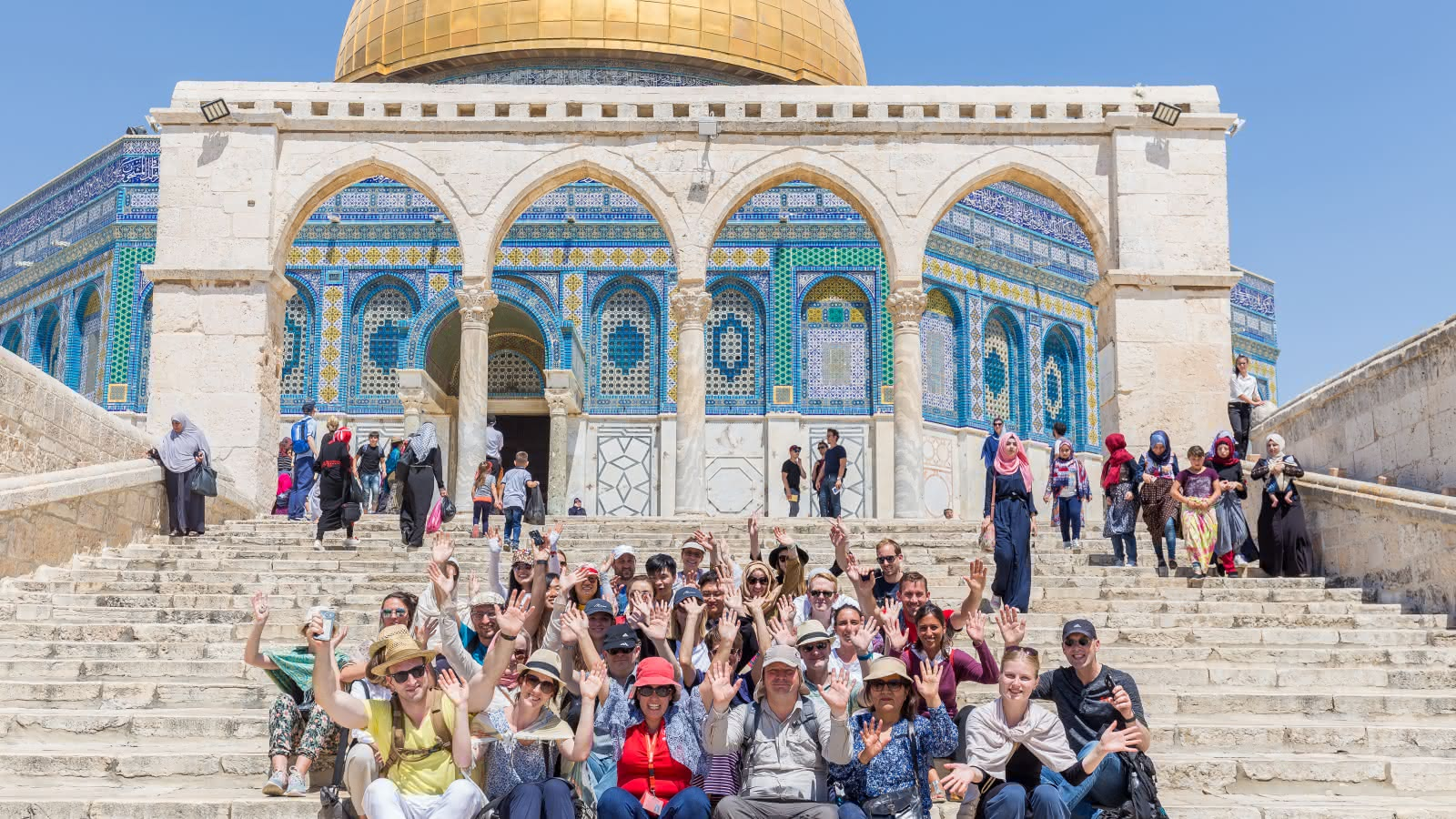 Jerusalem Holy City Tour group in front of Dome of the Rock