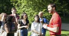 free tour group at St James's Park in london