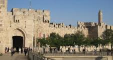 Punto de encuentro del Tour de la Ciudad Santa justo delante de laPuerta de Jaffa