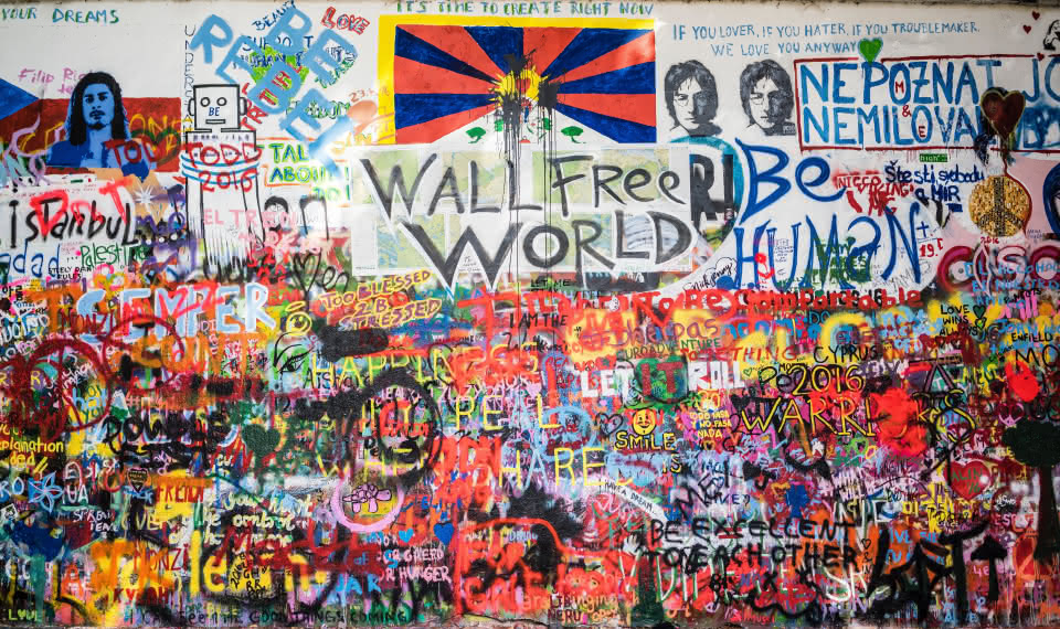 Lennon Wall things to do prague