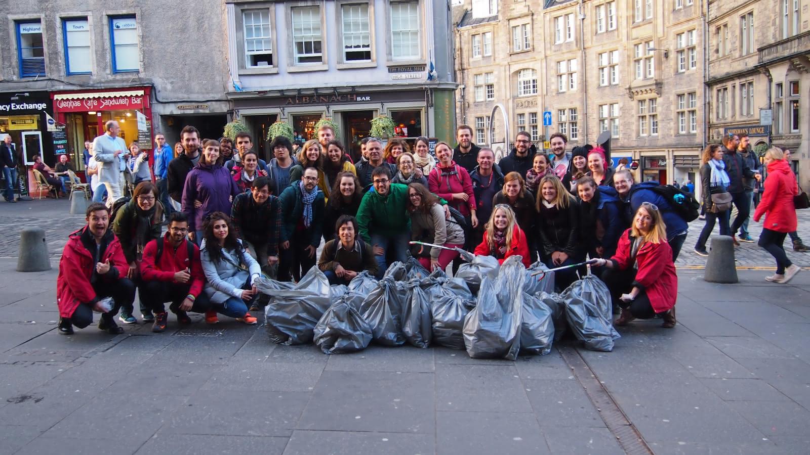 clean up crew sandemans edinburgh