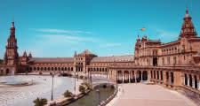Plaza de España where the Seville Free Tour ends