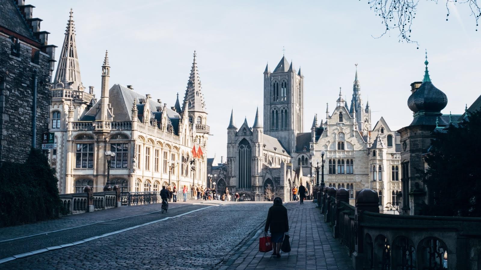 El centro histórico de Gante