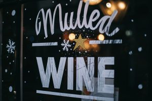 mulled wine bar sign