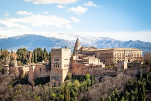 Alhambra palace in spring, Granada, Spain